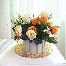 Pflanze Rosen Echten Touch Home Dekorationen Für Bridal Wedding Bouquet Geburtstag Blumen Strauß Hotel Party Garten Florales Dekor -Dreamingces