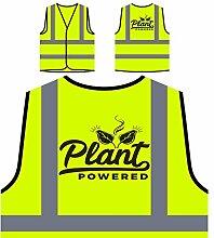 Pflanze Schwarz Angetrieben Personalisierte High Visibility Gelbe Sicherheitsjacke Weste n675v
