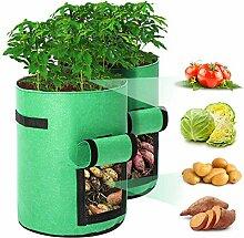 Pflanze Wachsende Tasche 2er Pack 10 Gallonen