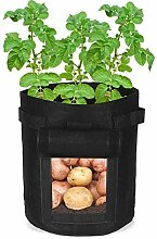 Pflanze Wachsende Tasche 2Pcs 7 Gallon 25L Black