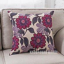 Pflanzen Blumenkissen/Sofa Kissenbezüge/Hirtenwind Blume Taille Kissen-B 53x53cm(21x21inch)VersionB