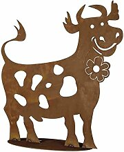 Pflanzen Kölle Gartendeko Lustige Kuh aus Metall