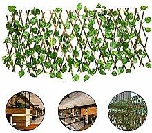 Pflanzengitter Holz Gartenzaun Holz Sichtschutz,