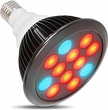 Pflanzenlampe,Myguru E27 24W LED Pflanzenlicht Pflanzenbeleuchtung 9*Rot LED + 3*Blau LED grow lampe für Zimmerpflanzen Blume Gemüsse(schwarz)