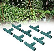 Pflanzenpfahlverbinder, T-Verbinder 8PCS