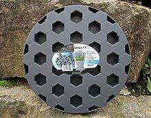 Pflanzenroller Anthrazit Blumenroller Ø 30 cm Untersetzer Pflanzenwagen 835100