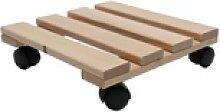 Pflanzenroller Holz MASSIV eckig 30x30 cm bis 120