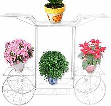 Pflanzenständer aus Metall, Weiß