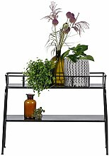 Pflanzentisch GREENERY B 96 cm Metall schwarz