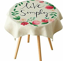 Pflanzentischdecke,Baumwolle-leinen Tischdecke,Art Side Schrank TV Schrank Deckel Handtuch,Nordic Couchtisch Schal-A 85x85cm(33x33inch)