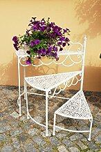 Pflanzentreppe Blumentreppe Blumenbank Blumenregal Garten Regal Blumenständer x3 - verstellbar - gefertigt aus Eisen - verziert mit Ornamenten