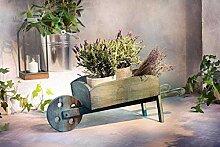 Pflanzer Schubkarre aus Holz 78 cm groß