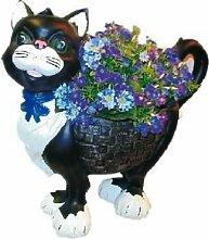 Pflanzgefäß Katze 37 cm groß Pflanzer Dekofigur