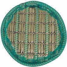 Pflanzinsel Teich, rund, schwimmend, 45cm – schöne Gartenteich-Atmosphäre mit Teichinsel, Pflanzkorb, Pflanzschale – Reduzierung von Algen & Ruhezone für Koi durch Pflanzeninsel