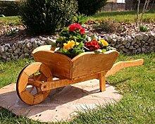 Pflanzschubkarre Blumenkarre Schubkarre aus Holz