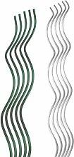 Pflanzstab Blumenhalter Staudenhalter Pflanzenstäbe Rankhilfe Tomatenspiralstab, Farbe:10x verzinkt (150cm lang)