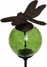 Pflanzstab Pic Tür-Pflanze Garten Libelle Kugel Grüne Gusseisen braun 117cm