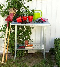 Pflanztisch für Garten, Balkon, Terrasse aus Stahl Gärtnertisch Woodinis-Spielplatz