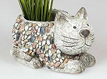 Pflanztopf Katze Stein Mosaik Design Blumen Kübel