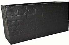 Pflanztrog Wall L60x B25x H30cm aus Fiberglas wie