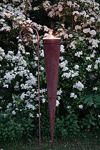 Pflanztüte mit Halter 140cm hoch Rost Deko Gartendeko Edelros