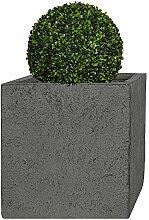 Pflanzwerk® Pflanzkübel Cube XXL Lava Grau