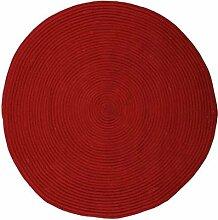Pflaume 120377Tam Tam Teppich Baumwolle rot Durchmesser 120cm