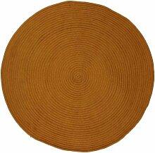 Pflaume 508411Tam Tam Teppich Baumwolle safran Durchmesser 70cm
