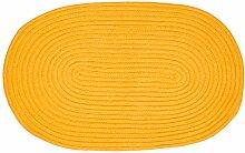 Pflaume 508411Tam Tam Teppich Baumwolle safran Durchmesser 50 x 80 cm