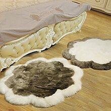 Pflaume decke wohnzimmer sofa schlafzimmer front bett eingang halle teppiche kaufen ein senden-weiß+grau diameter120cm(47inch)