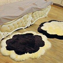 Pflaume decke wohnzimmer sofa schlafzimmer front bett eingang halle teppiche kaufen ein senden-Dunkler Kaffee + Gelb Durchmesser100cm(39inch)