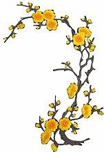 Pflaumenblüte Flower Patch Blume Applique