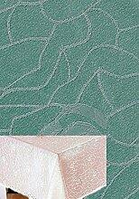 pflegeleichte Tischdecke 135x180 cm eckig Antikgrün Jacquard Damast Rosenmuster Tafeltuch bügelfrei (Antikgrün)