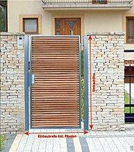 Pforte Holz Gartentor Grau Hoftor Einfahrtstor Tür Tor Törchen 105cm x 150cm