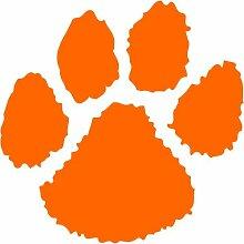 Pfote Aufkleber , 30 cm, orange