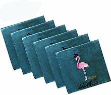 Pfrewn Stoffservietten mit Halloween-Flamingo-Hut,