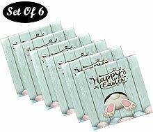 Pfrewn Stoffservietten mit rosa Marmortextur, Set