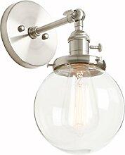 Phansthy Modern Wandlampe Vintage Glas Kugel