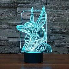 Pharao Guard 3D-Licht Bunte Note Aufladung