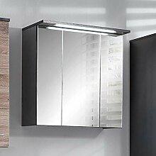 Pharao24 Badezimmer Spiegelschrank in Anthrazit