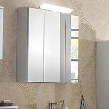 Pharao24 Badezimmer Spiegelschrank in Weiß LED