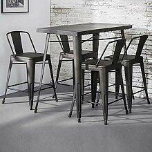 Pharao24 Bartisch und Stühle im Industry Style