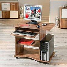 computertisch mit rollen g nstig online kaufen lionshome. Black Bedroom Furniture Sets. Home Design Ideas