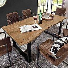Pharao24 Design Esstisch mit Baumkante Akazie