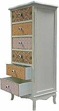 Pharao24 Design Kommode mit 6 Schubladen Bunt