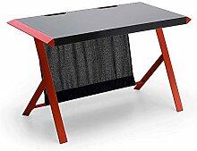 Pharao24 Design Schreibtisch in Schwarz Rot modern