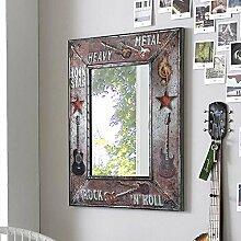 Pharao24 Design Spiegel im Rock Style Metallrahmen