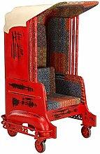 Pharao24 Designersessel in Rot und Bunt Rollen