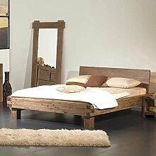 Pharao24 Doppelbett Akaziefarben Holz Breite 170