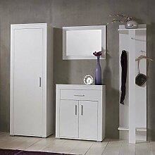 Pharao24 Garderoben Set Oladio in Weiß modern